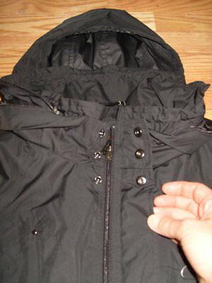 New Small COLE Hooded Black Raincoat Coat