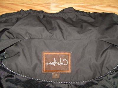 New Small COLE Packable Hooded Black Coat