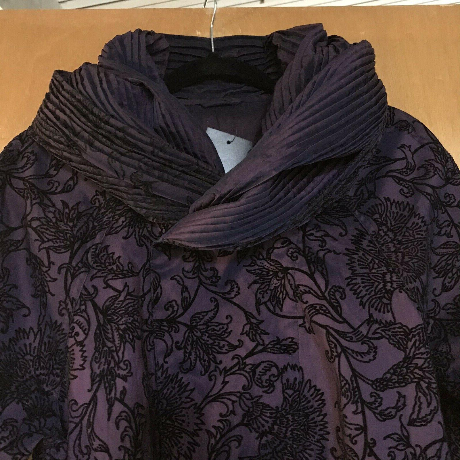 Mycra Pac Now Coat 2 Donatella Black Short Rare $253
