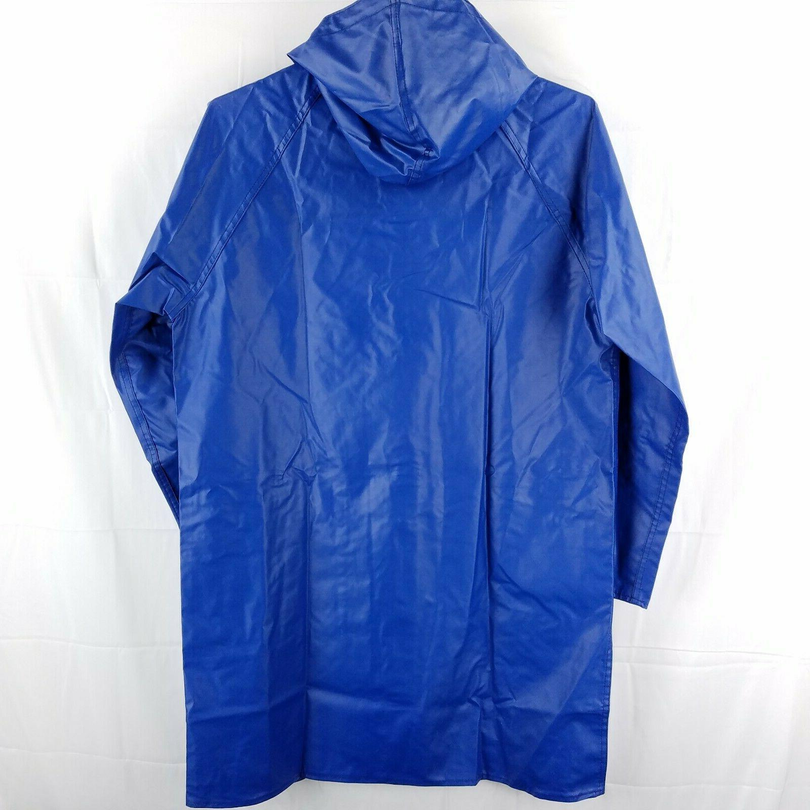 NWT Charles Blue Waterproof Coat Knee Length Large