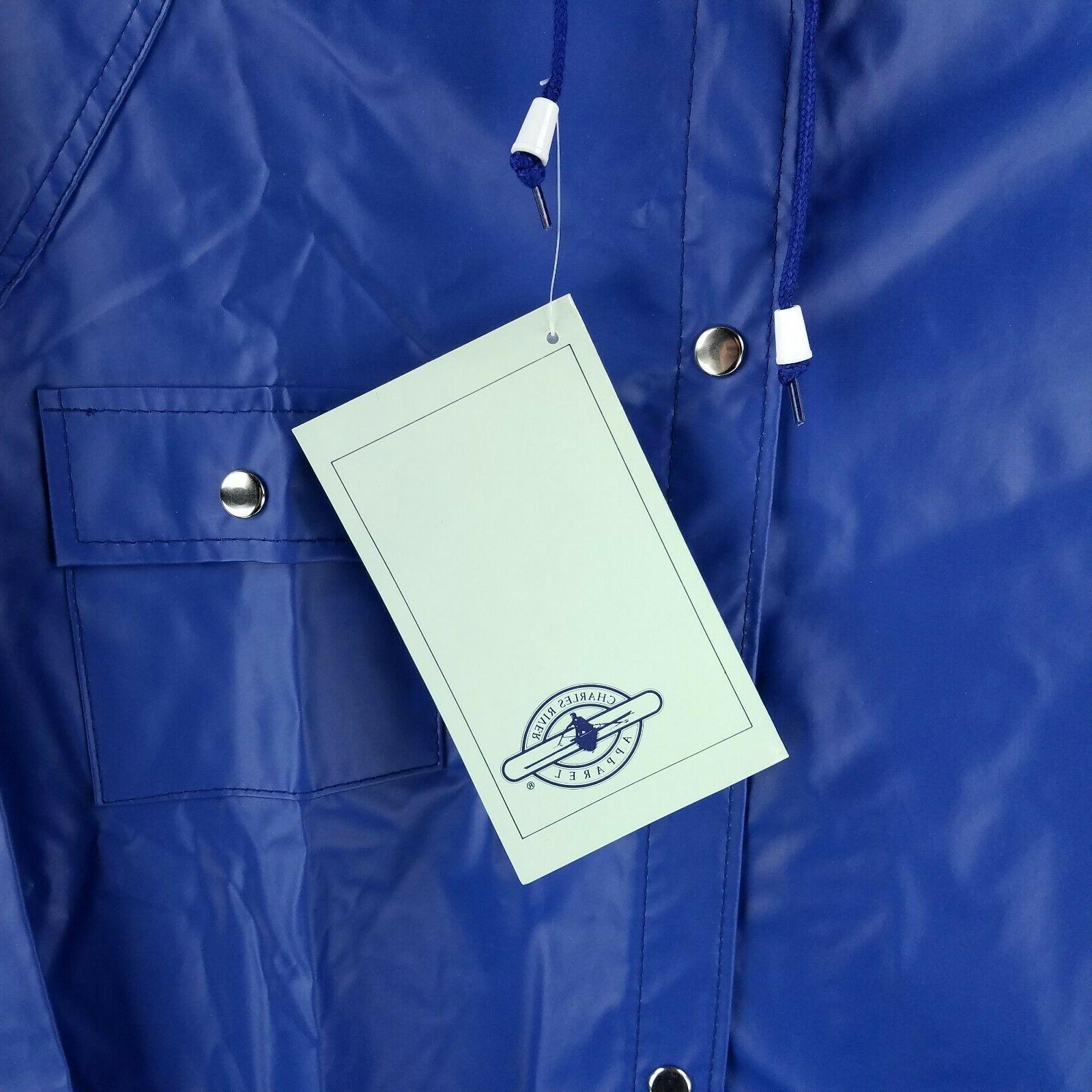 NWT Charles River Apparel Blue Knee Jacket Large