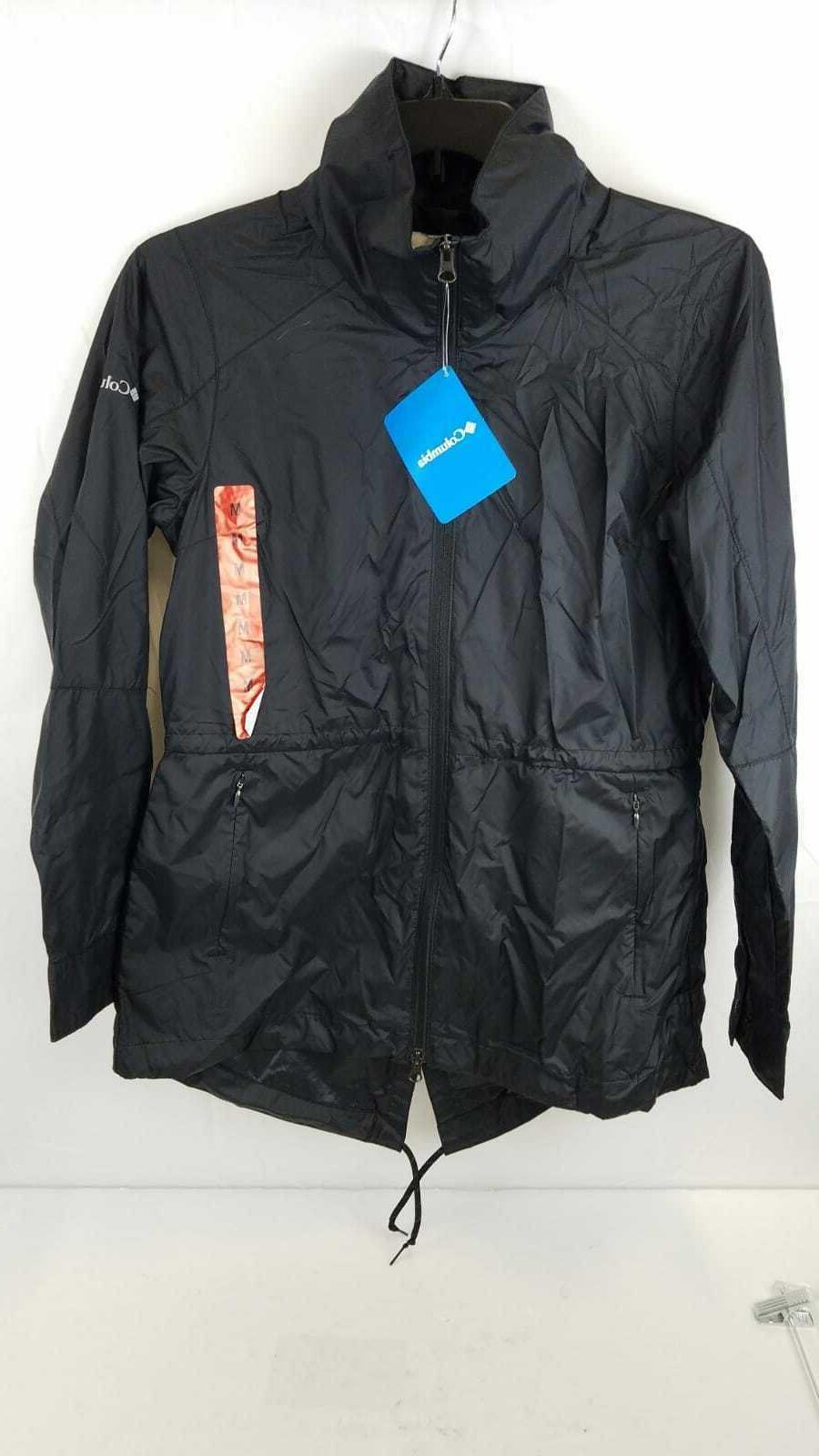 nwt rain coat light weight black medium