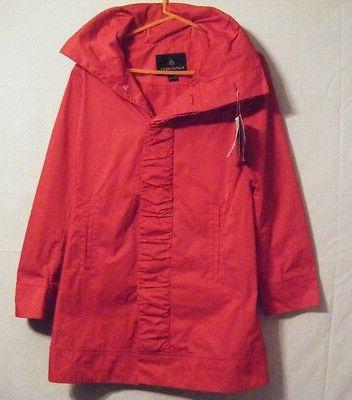 NWT Womens Front Jacket/Coat Hidden Red XS