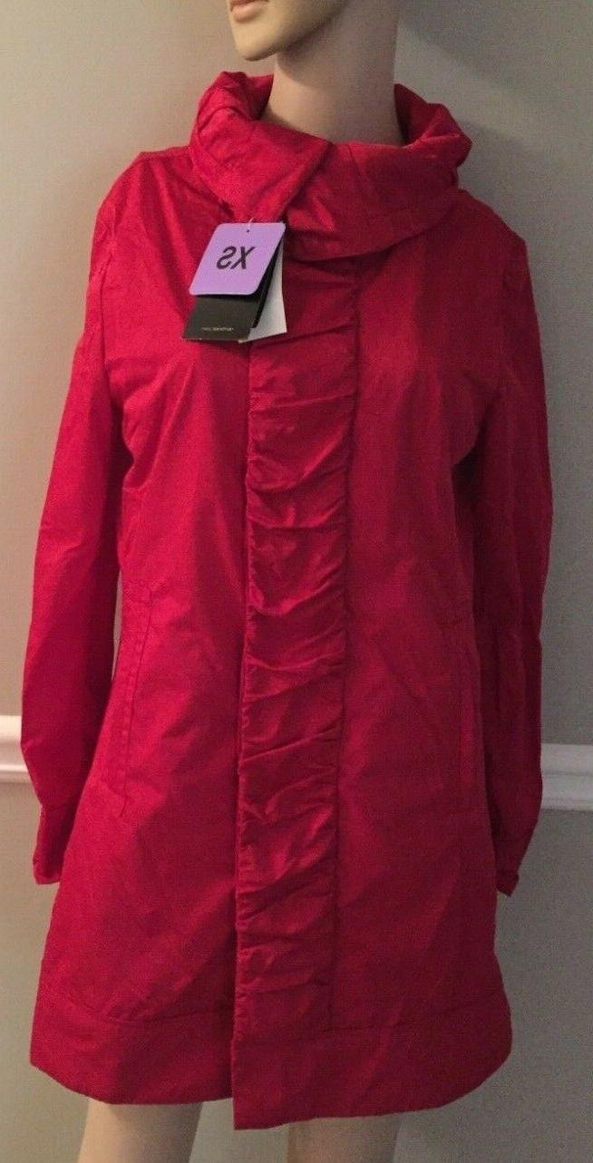 nwt ruched front rain jacket