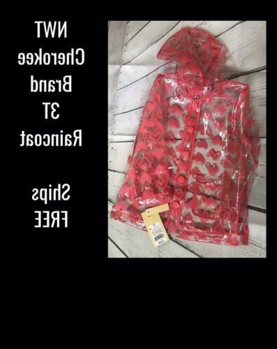 nwt toddler girl hooded raincoat 3t brand