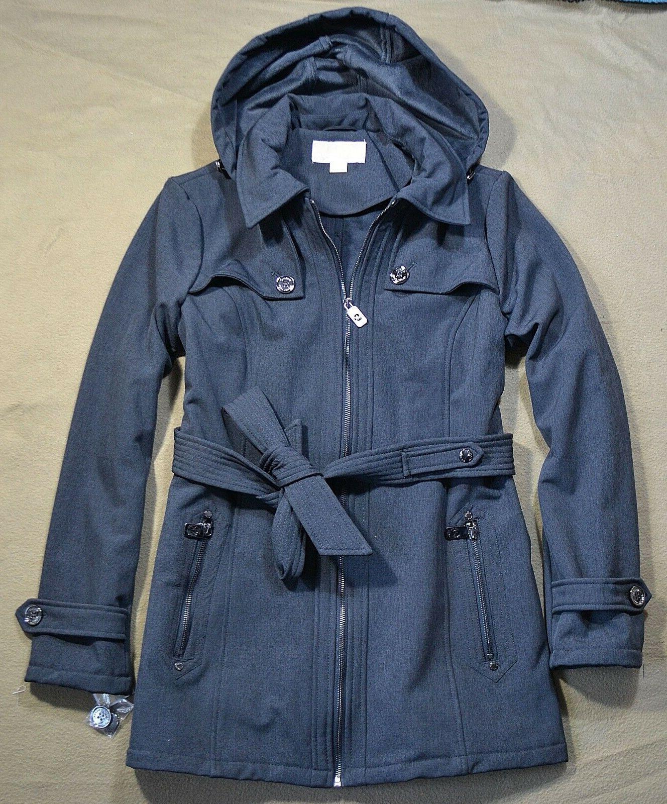 nwt women heather grey rain coat jacket