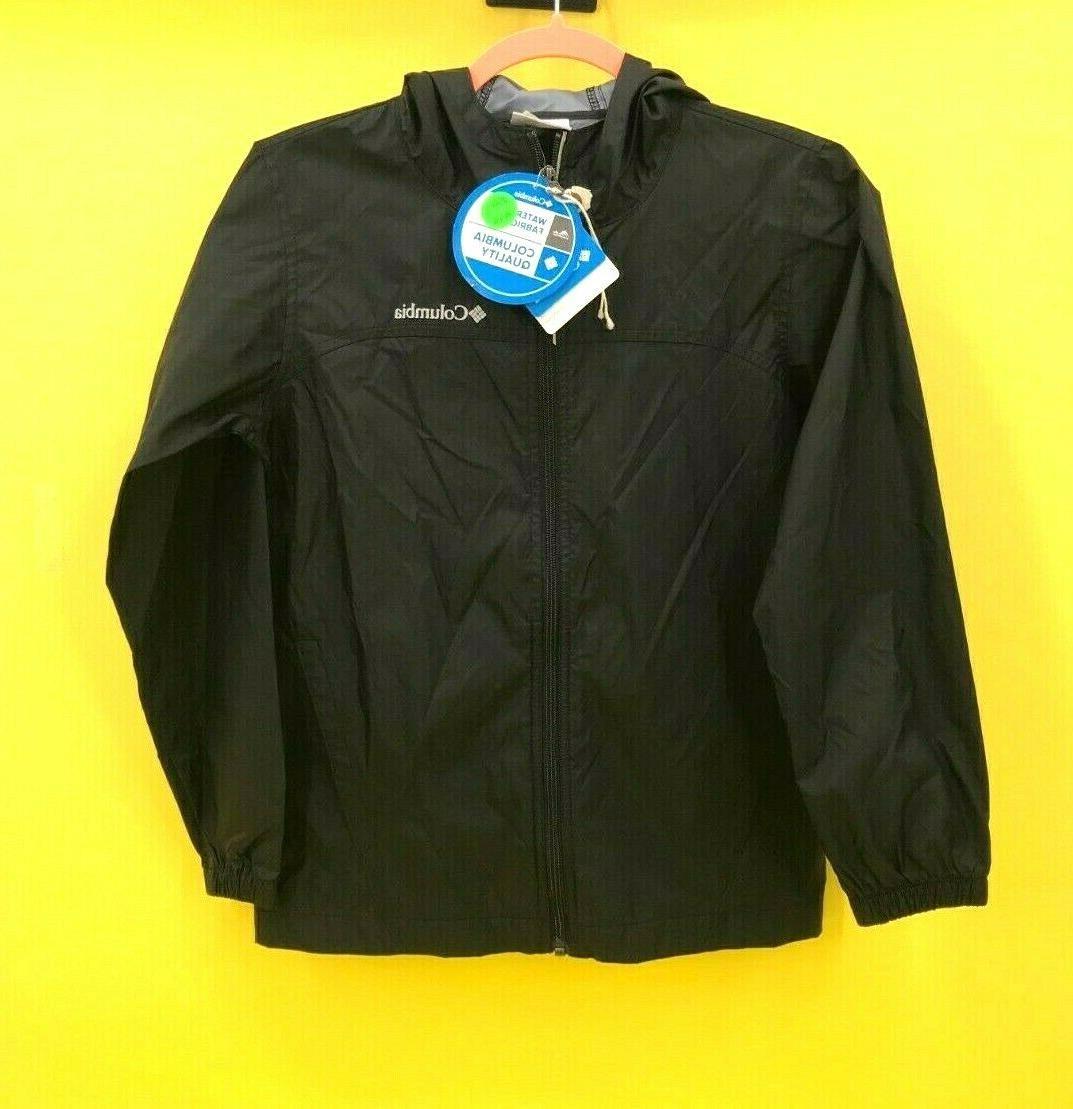 Columbia Toddler Boys' Glennaker Rain Jacket, Black, 3T