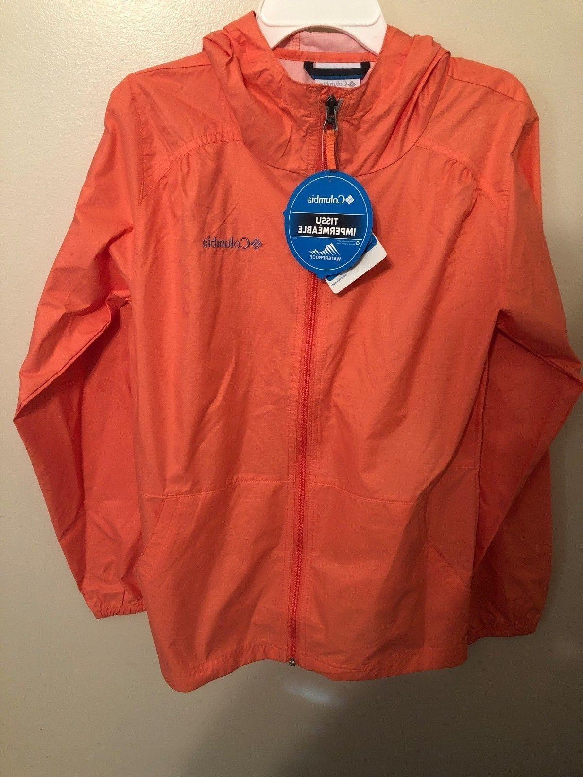 nwts youth and toddler peach rain jacket