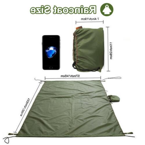 Outdoor Raincoat Hammock Waterproof Tarp