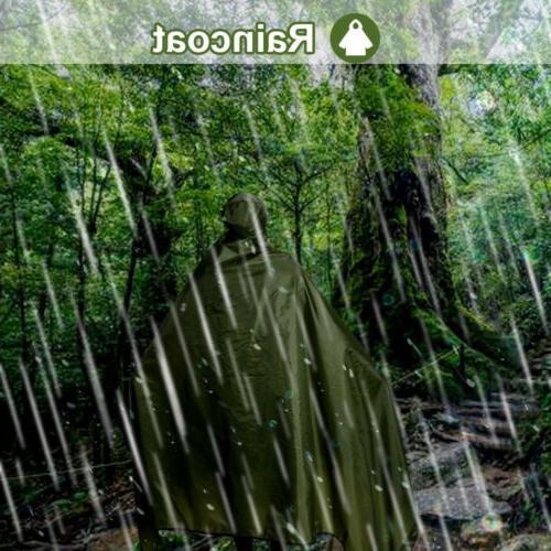 Outdoor 4in1 Multifunction Raincoat Tarp