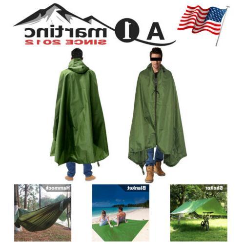 outdoor camping 4in1 multifunction raincoat hammock waterpro