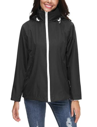 outdoor rain jacket women s lightweight hooded