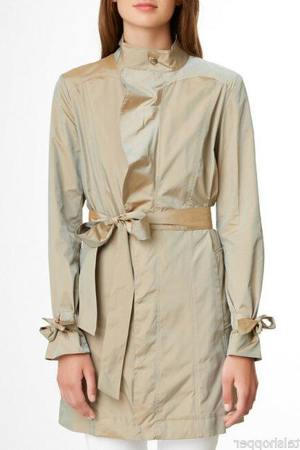 COLE HAAN Packable Trench Spring Coat Travel Bag Pouch $395 L