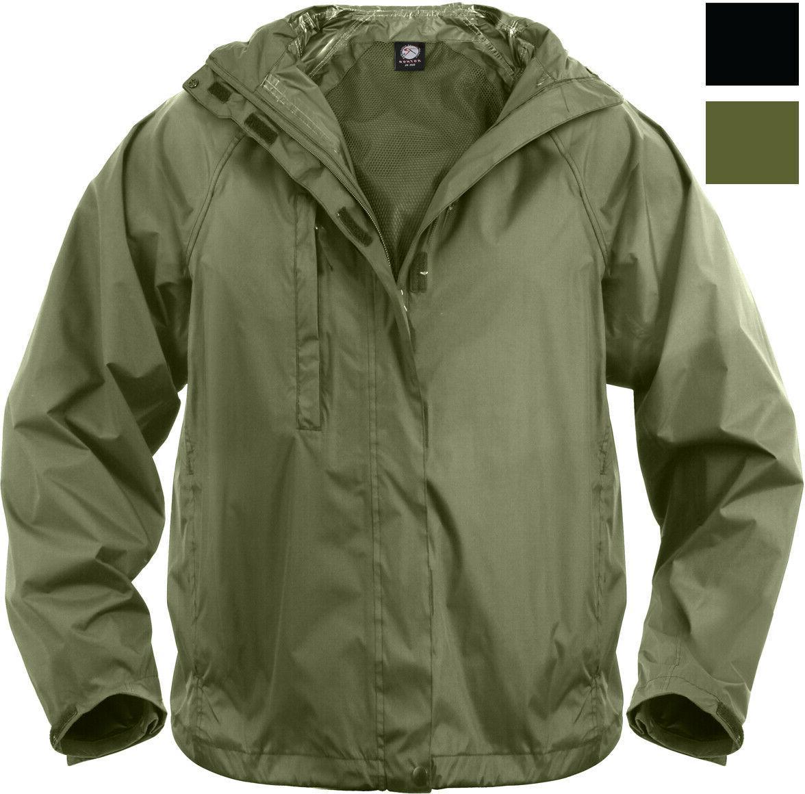 Waterproof Packable Outerwear Rip-Stop Rain Jacket