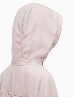 Calvin Hi Lo Hooded Rain Coat,