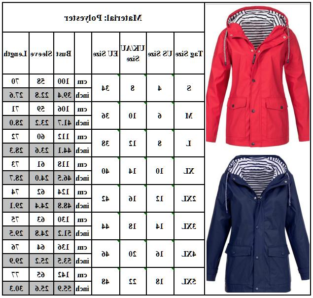 Women Rain Jacket Outdoor Windproof