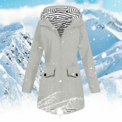 Plus Size Sleeve Wind Lady Waterproof Coat