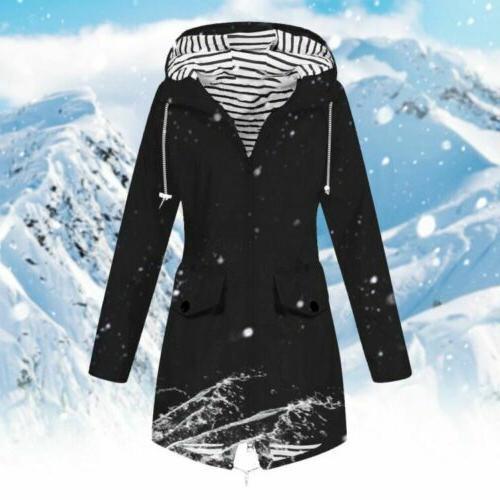 Plus Size Women Long Sleeve Hooded Lady Coat
