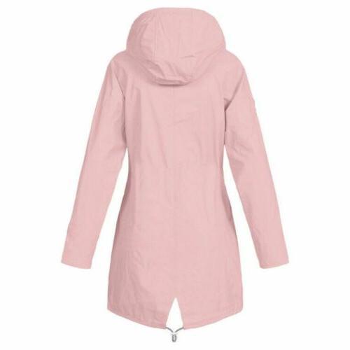 Plus Women Long Sleeve Hooded Lady Outdoor Waterproof Coat