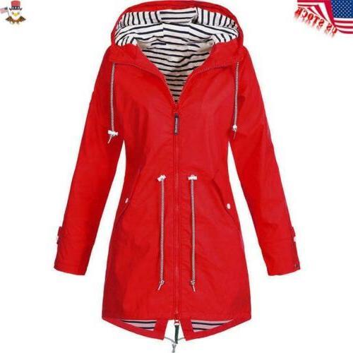 Plus Women Sleeve Lady Outdoor Rain Coat