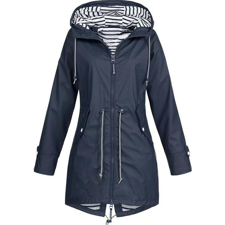 Plus Long Sleeve Hooded Lady Outdoor Coat