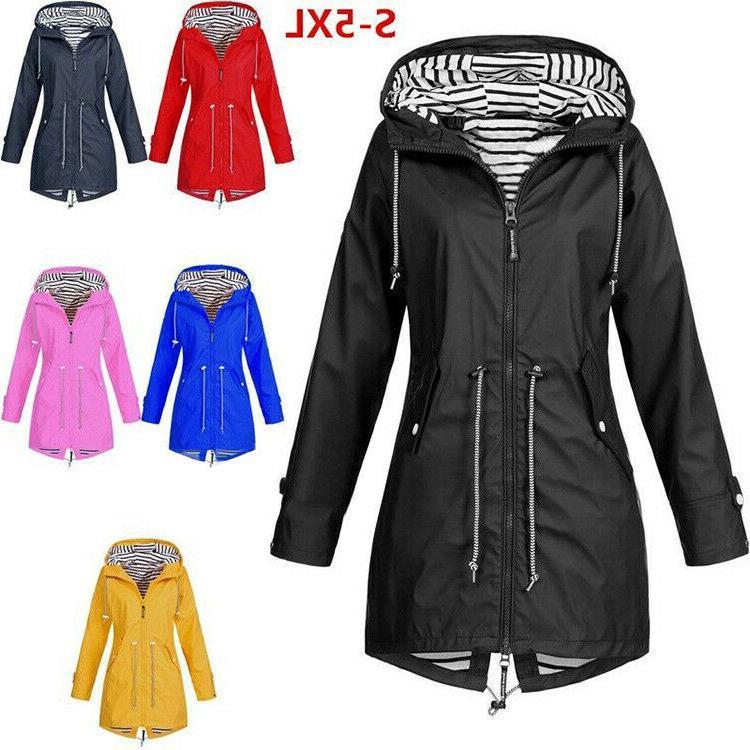 plus size women long sleeve hooded wind