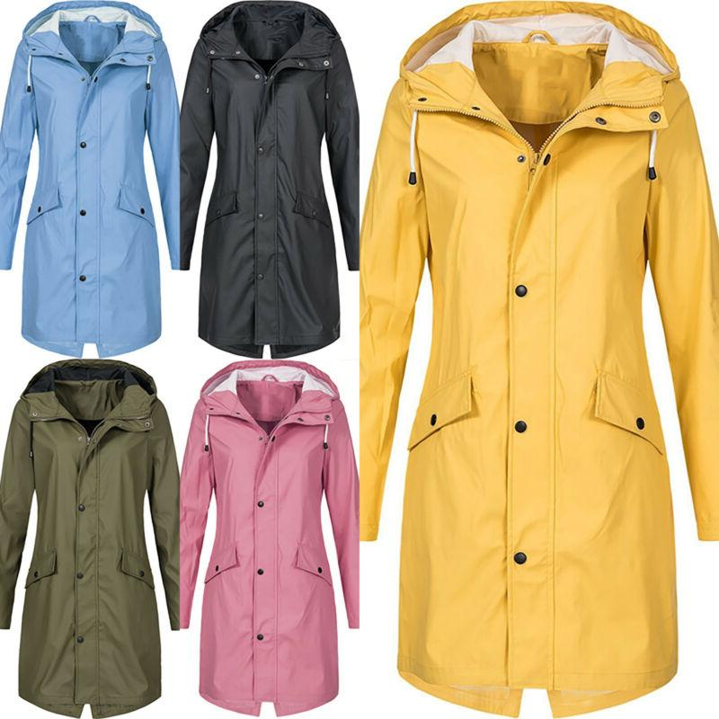 Women Long Sleeve Hooded Wind Jacket Outdoor Winter Waterpro