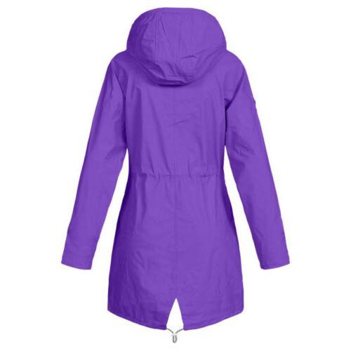 Plus Size Waterproof Jacket Raincoat Hooded Mac Forest USA