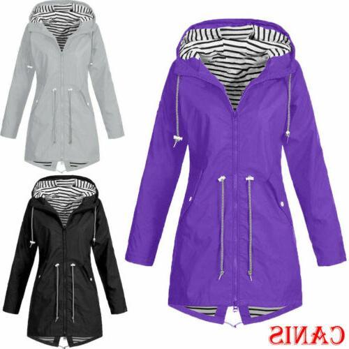 plus size women waterproof jacket raincoat hooded