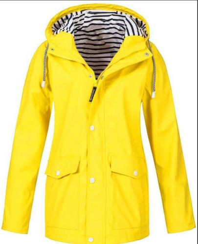 Plus Size Womens Wind Jacket Rain Coat