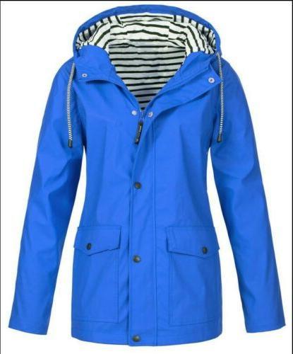 Plus Size Wind Jacket Outdoor Rain Tops Outerwear