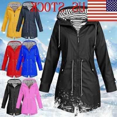 Plus Mac Wind Waterproof Ladies Coat