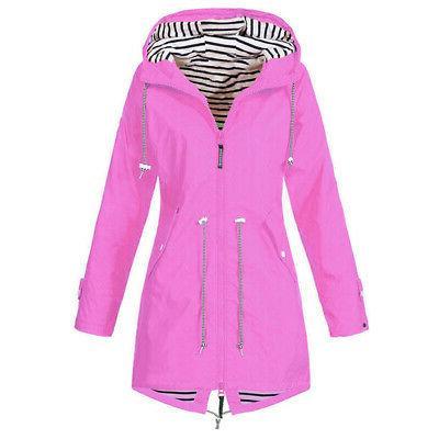 Warm Ladies Windbreaker Jacket Outdoor Rain