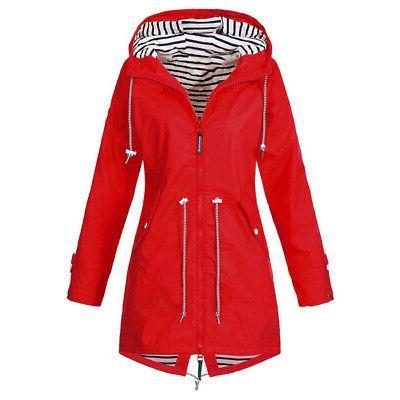 Warm Ladies Windbreaker Jacket Outdoor Waterproof