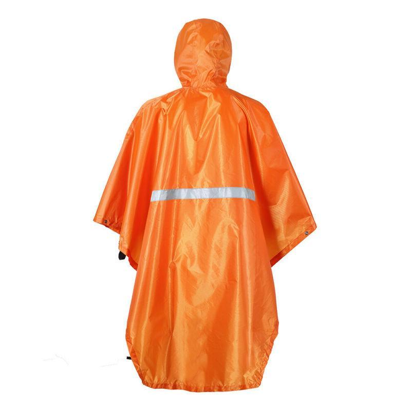 Pocket Outdoor Windproof Rain Coat Hooded Coat Raincoat