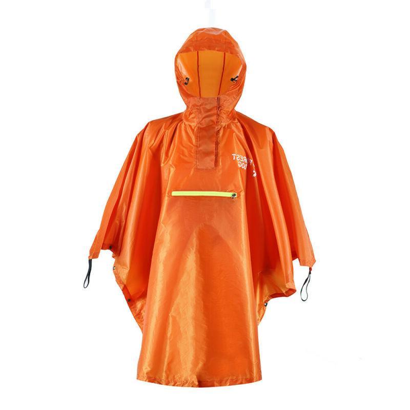 Pocket Outdoor Rain Rain Hooded Raincoat