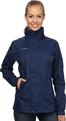 Marmot Women's PreCip Jacket Arctic Navy Outerwear MD, New