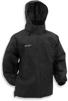 pro action rain jacket black all sizes