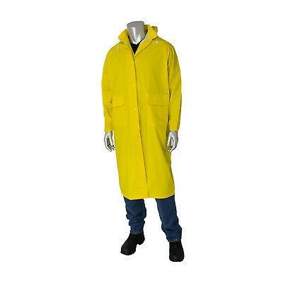 PVC Knee Length Yellow Raincoat, Size 2x-large