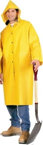 PVC Knee Length Yellow Raincoat, Size 3x-large