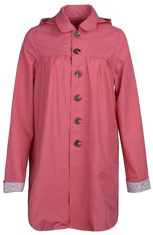 QZUnique Women's Fashion Packable Poncho Raincoat Hood