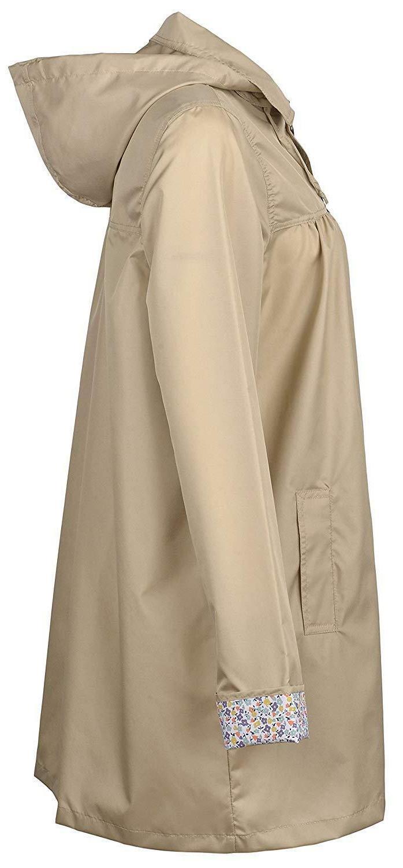 QZUnique Women's Outdoor Packable Raincoat