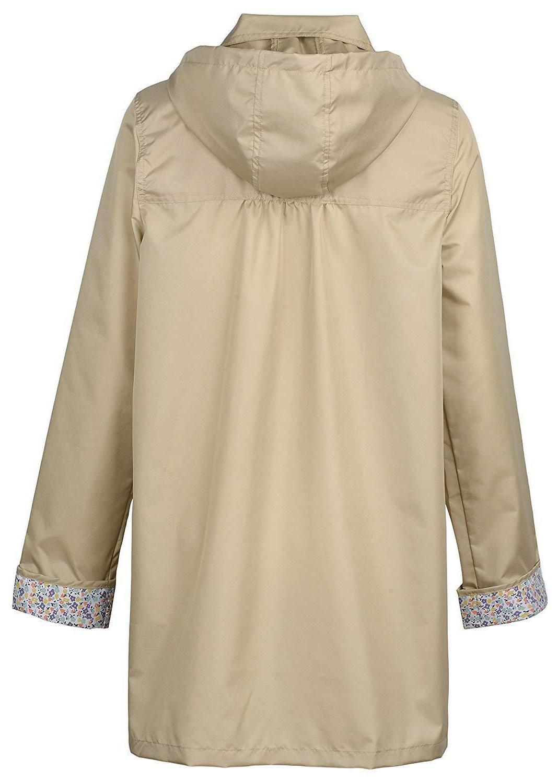 QZUnique Women's Packable Raincoat with