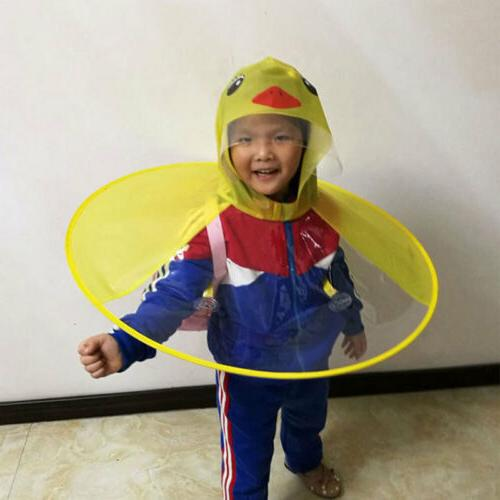 Rain Duck Kids Baby Umbrella Hat Hands Raincoat