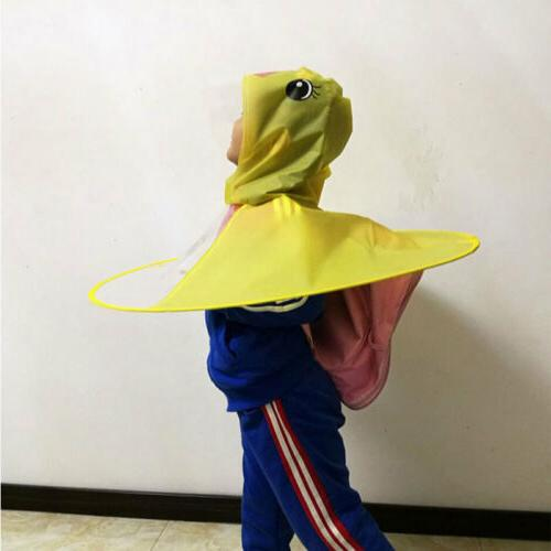 Rain Coat UFO Duck Kids Baby Hat Raincoat