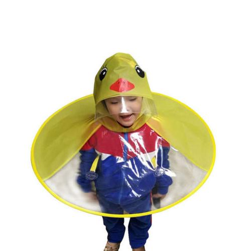 Rain UFO Kids Hat Magical Raincoat
