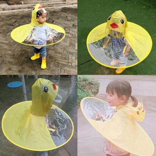 Rain Coat UFO Kids Hat Magical Hands Free