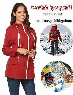 LOMON Coats Women, Lightweight Waterproof Raincoat Active...