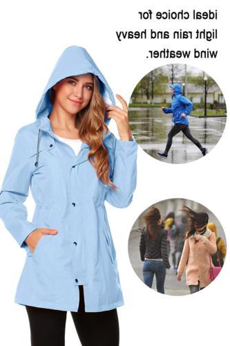 ZHENWEI Rain Jacket Women Waterproof Lightweight Raincoat Outdoor