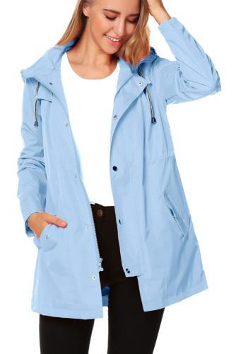 ZHENWEI Women Waterproof Hood Lightweight Raincoat